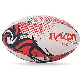 Optimum Razor Rugby League Union Ball Black/Red/White