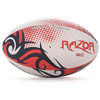 Optimum Razor Rugby League Union Ball Black/Red/White
