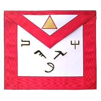 Masonic scottish rite leather masonic apron - aasr - 6th degree