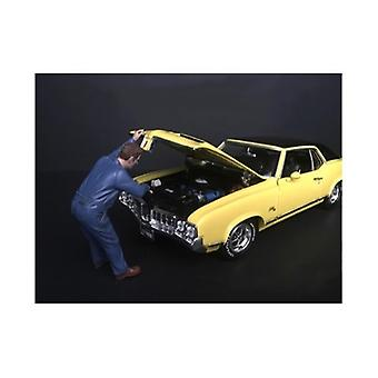 Mechaniker Frank unter der Kapuze Figur für 1/24 Skala Modelle von American Diorama