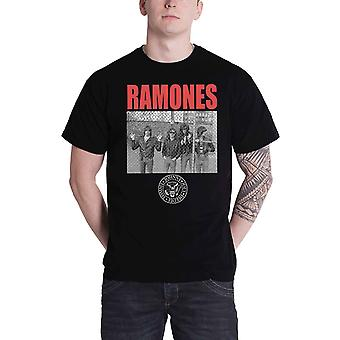 Ramones T Shirt Cage Photo Hey Ho Band Logo new Official Mens Black