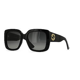 غوتشي GG0141S 001 النظارات الشمسية التدرج الأسود / الرمادي
