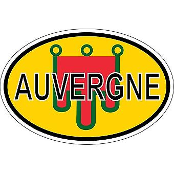 ملصقا البيضاوي العلم البيضاوي رمز البلد قسم auvergne