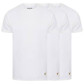 Lyle and Scott Maxwell 3 Pack T-Shirts - Bright White