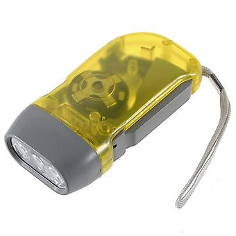 Flashlight - Manual Rechargeable (Yellow)