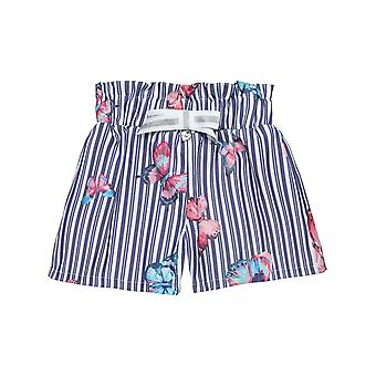 Alouette Girls' Striped Shorts With All Over Motives