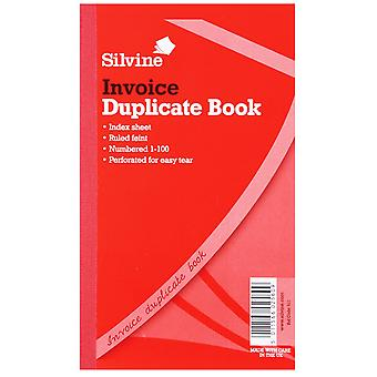 Silvine Large Duplicate Invoice Book Feint 200 Sheets (Pack Of 6)