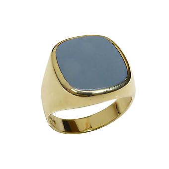Gold layer stone cachet ring