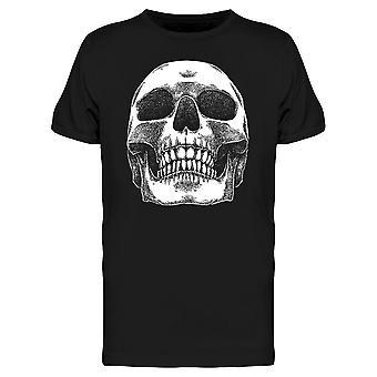 Detailed Human Skull Tee Men's -Image by Shutterstock