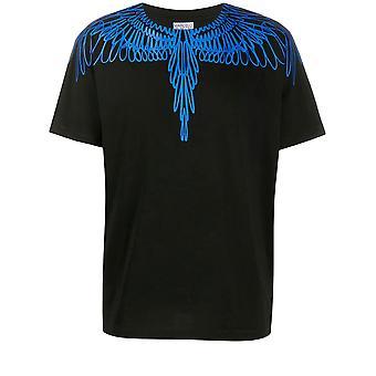 Marcelo Burlon Cmaa018e20jer0031045 Heren's Zwart Katoen T-shirt