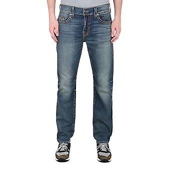 True Religion Geno Big T Washed Blue Slim Fit Jeans