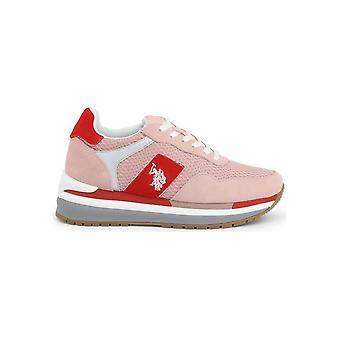 U.S. Polo Assn. - Shoes - Sneakers - CHER4195S0_MS1_PINK-RED - Ladies - mistyrose,red - EU 35