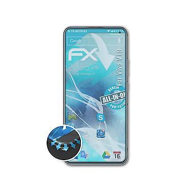 atFoliX 3x-beschermfolie compatibel met Vivo V19 Screen Protector helder en flexibel