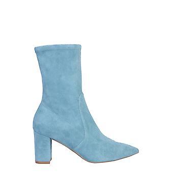 Stuart Weitzman Landry75suedestrcerulean Women's Light Blue Suede Ankle Boots