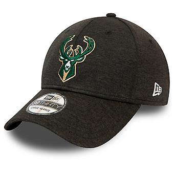 New Era 39Thirty Stretch Cap - SHADOW Milwaukee Bucks
