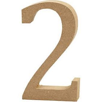 13cm Large Wooden MDF Number Shape to Decorate - 2 | Wood Shapes for Crafts