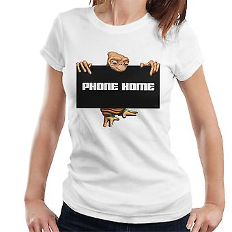 E.T. The Extra-Terrestrial Phone Home Sign Women's T-Shirt