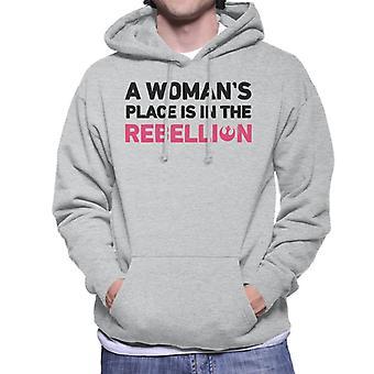 Star Wars A Womans miejsce jest w bluzie z kapturem mężczyzn buntu