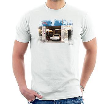 Chevrolet Impala Auto myymälä valkoinen Miesten t-paita