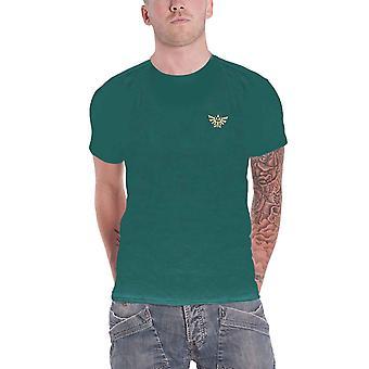 Zelda T Shirt Legend of Zelda Wolf Logo nouveau officiel Mens Green
