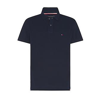 Tommy Hilfiger Placket Oxford Refgular Fit Polo Desert Sky