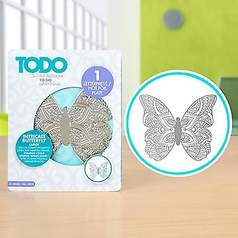TODO Letterpress and Hot Foil Plate Intricate Butterfly Large