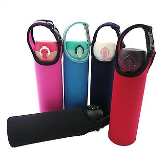 5PCS Portable Buckle Type Drink Water Bottle Sleeve 550ML 5 Color