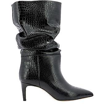 Paris Texas Px511xcabsnero Women's Black Leather Enkellaarsjes
