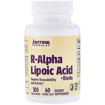 Formules Jarrow, Acide lipoïque R-Alpha + Biotine, 60 bonnets de légumes