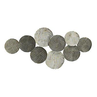 Metallic Plates Wall Centerpiece with Distressed Finish