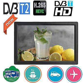 D14 14 Inch Hd Portable Mini Tv Built In Dvb-t2 Digital Tuner Full Compatible With H265/hevc/dolby Ac3 Dvbt H264