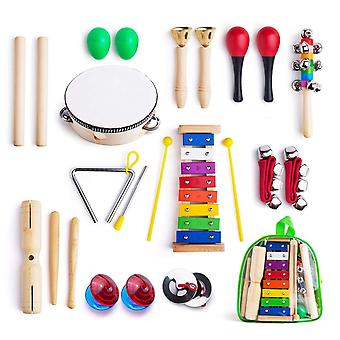 Musical Instruments For Toddler With Carrying Bag12 In 1 Music Percussion Toy Set For Kids With Xylophone (multicolor)