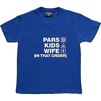 Pars Bambini Moglie (In Quell'Ordine) Royal Blue Kids' T-Shirt