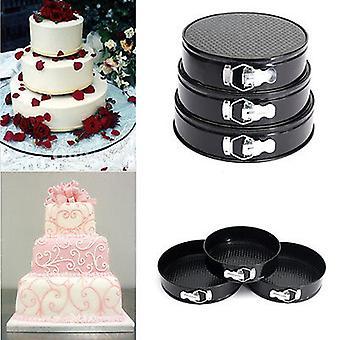 3 PCS Runde Non Stick Dosen Bakeware Kuchen Pfannen Formen
