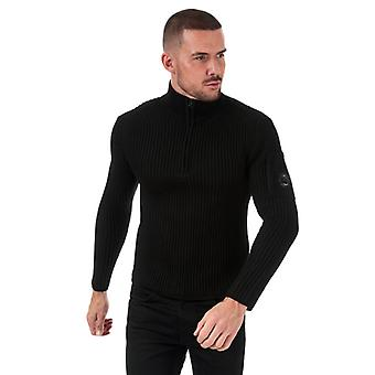 Men-apos;s C.P. Company Knitted Roll Neck en noir