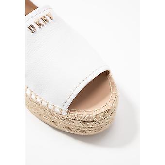 DKNY mujer Mer cuero abierto de la punta casual de la alpargata sandalias