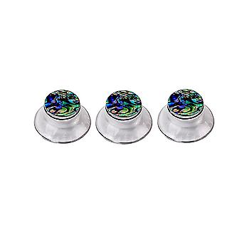 3PCS Clear Guitar Cap Knob Volume Tone Control