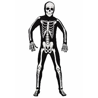 AltSkin Adulte/Enfants Full Body Stretch Fabric Zentai Suit - Glow in the Dark Skeleton - Glowing Skeleton Costume for Halloween