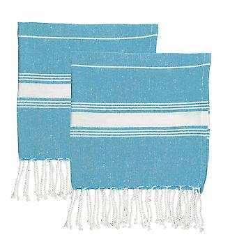 Nicola Spring 100% Turkish Cotton Micro Hand Towel Set - Light Blue - Opakowanie 4