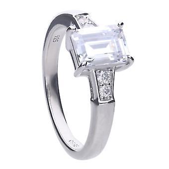 Diamonfire Emerald Round Cut Cubic Zirconia Ring R3714