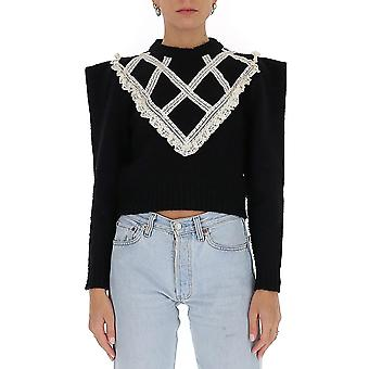 Filosofia Por Lorenzo Serafini 09357108a3555 Women's Black Wool Sweater