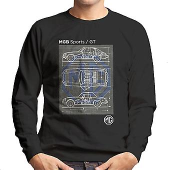 MG B Sports GT British Motor Heritage Men's Sweatshirt