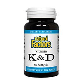 Luonnolliset tekijät Vitamiini K & K, 60 Softgels