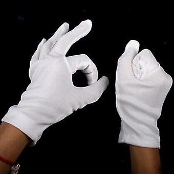 Halloween Supplies 100% Cotton White Hip-hop Gloves