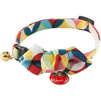 NECOICHI Daruma charming bow cats collar (Red)