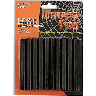 Forum-uutuudet Halloween Naamiaispukutarvikkeet - Webcaster Gun Dispenser Refill Sticks - Tummat ja likaiset kobwebs (pakkaus 20)