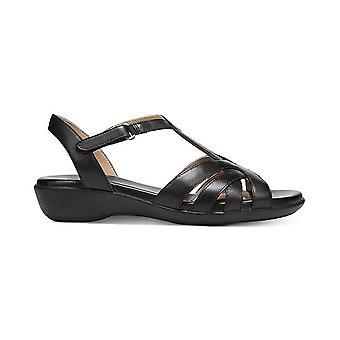 Naturalizer Womens Nella Leather Open Toe Casual Strappy Sandals