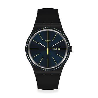 Swatch Suob731 Black Rails Silikone Watch