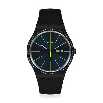 Swatch Suob731 Svart Rails Silikon Klocka