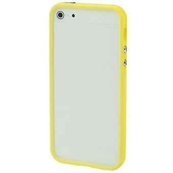 För iPhone 5 & 5s Plast Bumper Ram med knappar(Gul)